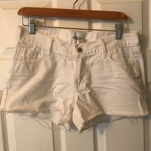 Old Navy Diva White Cut Off Shorts